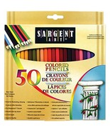 Sargent Art Premium Coloring Pencils, Pack of 50 Assorted Colors, 22-7251 - $7.99