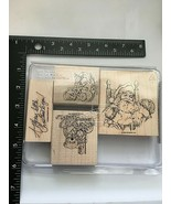 RUBBER STAMP SET - FABULOUS FOUR (CELEBRATIONS/HOLIDAYS) STAMPIN UP - $9.85
