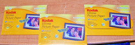 "Kodak Ultima Picture Paper - 3 Pkgs. Total Of 75 Sheets - High Gloss! 4"" X 6"" - $12.99"