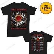 Whitesnake t Shirt The Flesh and Blood Tour Dates 2019 T-Shirt Black Men... - $22.99+