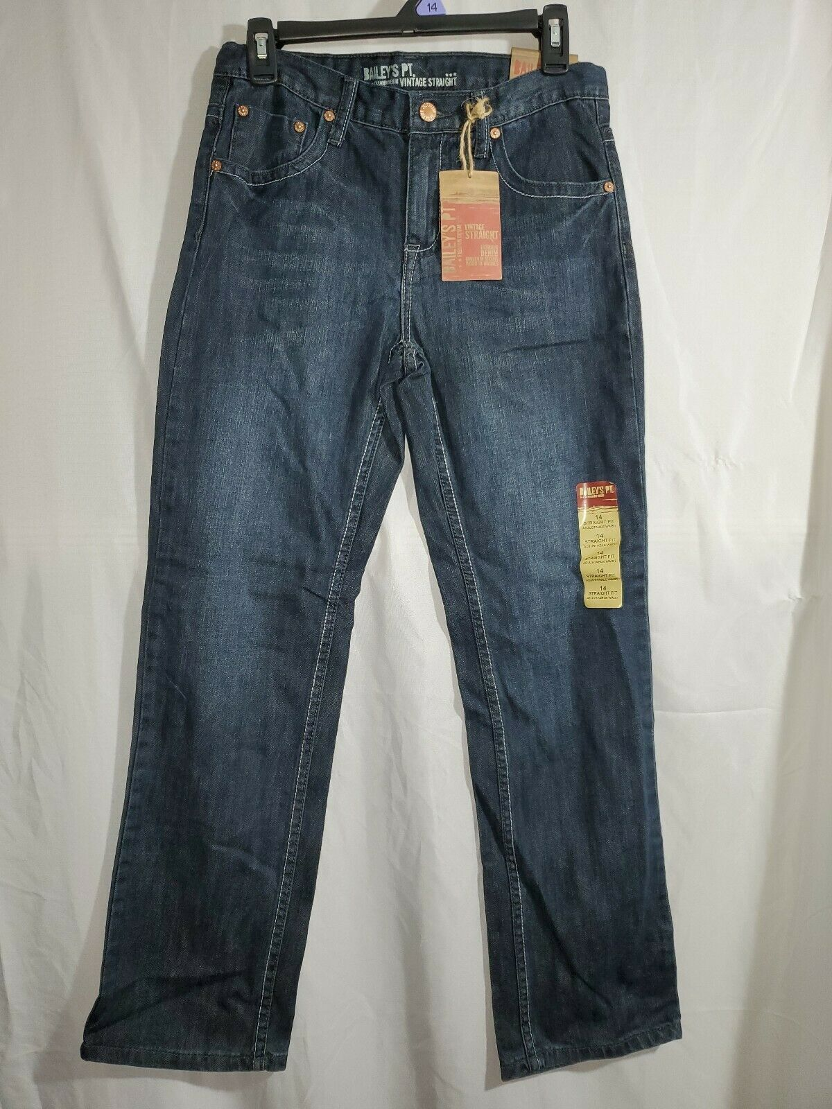 Primary image for Bailey's PT Boys Denim Jeans Size 14 casual pants straight fit medium wash (25g)