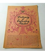 1961 Woman's Day Dictionary of Embroidery Stitches RARE STITCHES POINT D... - $10.00