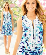 $218 Lilly Pulitzer Carlotta Pier Pressure Sailboat Stretch Corded Shift... - $157.50