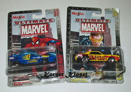 "Lot of 2 Maisto Ultimate Marvel Series 1 Cars - ""Spiderman #23 & Cyclops... - $16.40"