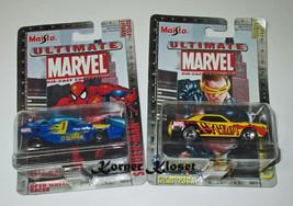 "Lot of 2 Maisto Ultimate Marvel Series 1 Cars - ""Spiderman #23 & Cyclops #6"" NIP - $16.40"