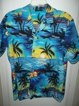 Men's Royal Creations Real Hawaiian Shirt Sz L Palm Tree Tropical Beach ... - $19.95