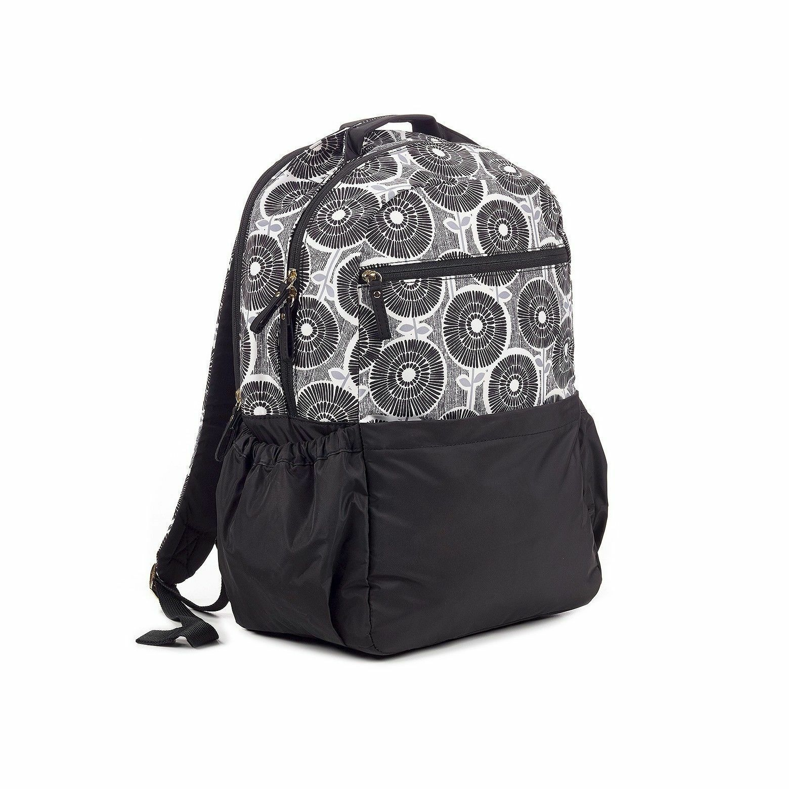 Brand New Studio C Hello Dahlia Black & White Floral Backpack 51251292