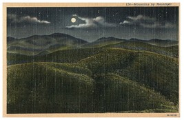 Mountains by Moonlight Curt Teich # 9A-H2501 1939 - $20.81