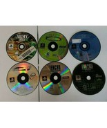 LOT 6 PS1 DISC ONLY PlayStation 1 Army Men 3D Tenchu Coolboarders 3 NBA ... - $24.50