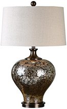 Uttermost 27154-1 Liro Mercury Glass Table Lamp, Dark Bronze - $310.20