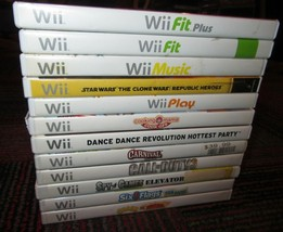 12 GAME LOT FOR NINTENDO Wii, DISC, CASE INLAY, MANUAL, COD, CRASH, STAR... - $16.99