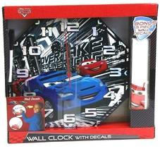 Disney Pixar Cars 2 Wall Clock 5 Decorative Wall Decals Dry Erase Marker NIB - $14.54
