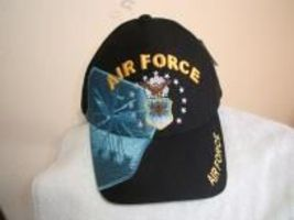 U S Air Force shield w/shadow on a new Blue ball cap - $20.00