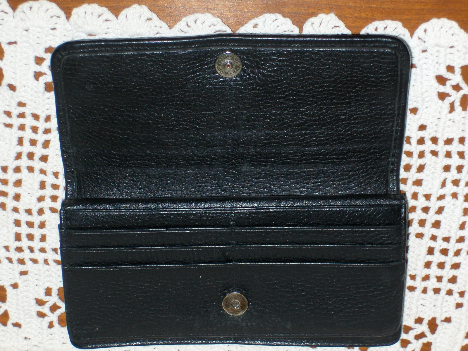 Brighton Wallet on String Organizer Purse Clutch Handbag Black Leather NO STRAP