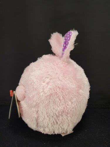 "TY Easter Bunny Rabbit Carnation Pink Purple Beanie Ballz Plush Stuffed 5"" Soft image 3"