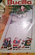 Bucilla 83071 Christmas Lotsa Santas Tablerunner Stamped Cross Stitch Ki... - $56.00