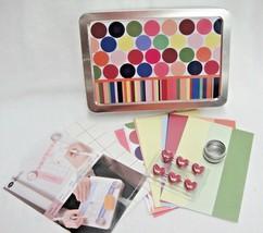 Creative Memories Mini Moments Tin Calendar Heart Magnets Punch Photo Mats  - $13.85