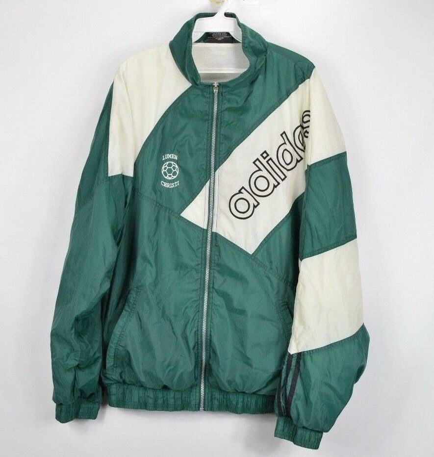 bb2c34d17a395 Vtg 90s Adidas Mens XL Spell Out Santiago and 50 similar items