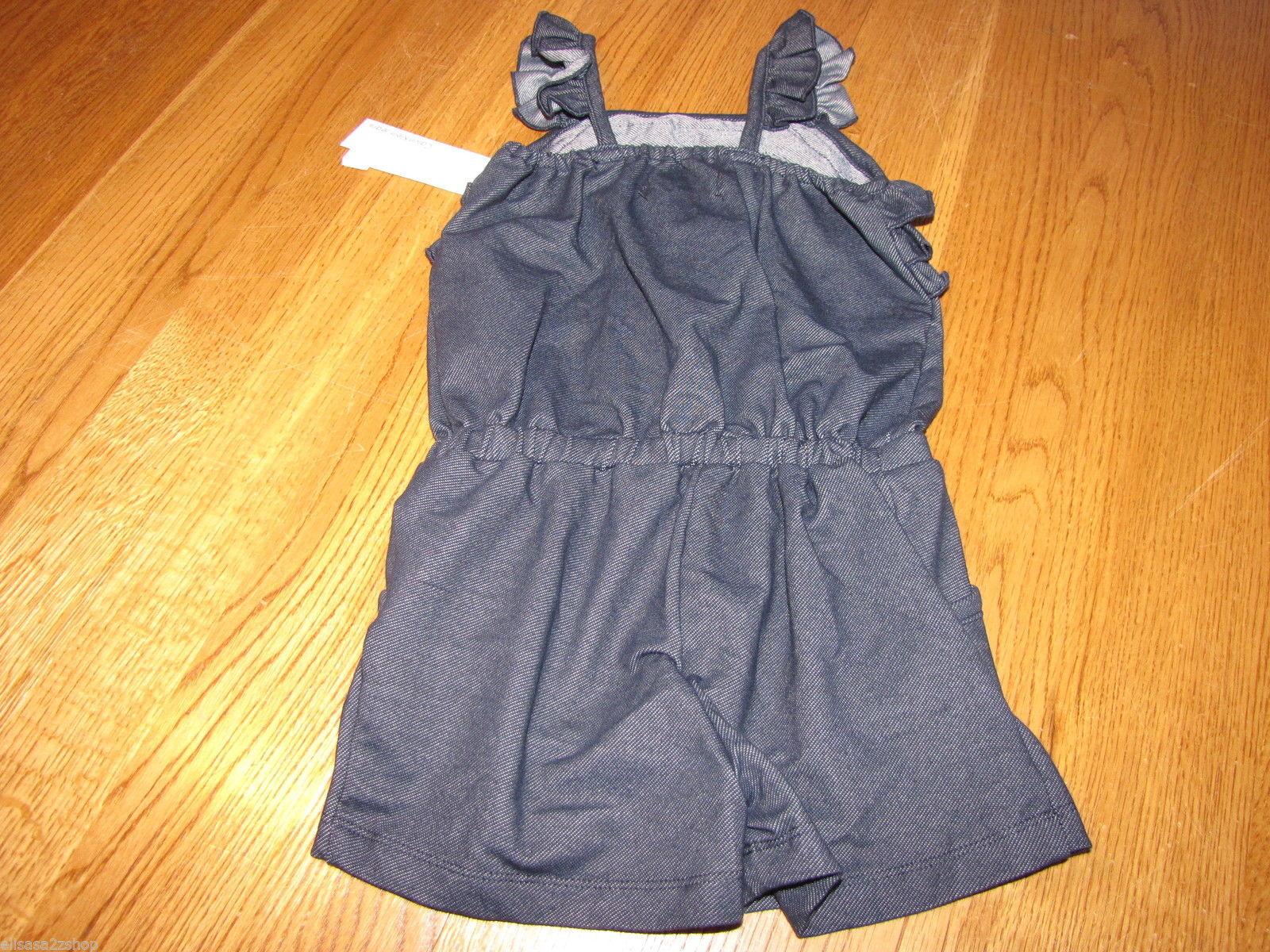 Calvin Klein Jeans little girls blue 6X Youth romper 3821640-10 MCS NWT ^^