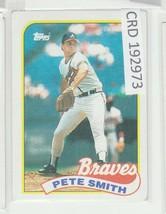 1989 Topps Pete Smith Atlanta Braves Baseball Card #537 192973 - $1.86