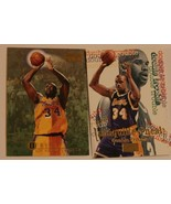 Shaquille O'neal Lot of 2 Trading Cards Basketball NBA L.A. Lakers - $3.95