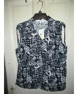 NWT ($48) Breckenridge Ladies Button Down Sleeveless Blouse-Deep Indigo-... - $14.95