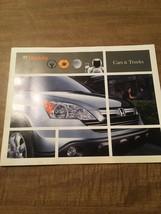 2007 Honda Sales Brochure - CRV, Civic, S2000, Accord, Ridgeline, Element - $9.89