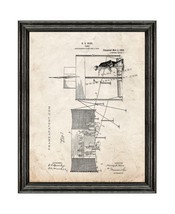 Game Patent Print Old Look with Black Wood Frame - $24.95+