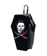 Michael Myers Coffin Shaped Backpack Horror Handbag - $57.00