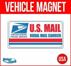 US MAIL RURAL CARRIER Heavy Duty Vehicle Magnet Truck Car Sticker Sign D... - $15.99+