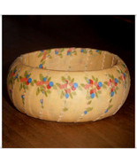 Yellow Print Fabric Wrapped Bangle, Wooden Bangle, Wood Bangle, Fabric B... - $10.00