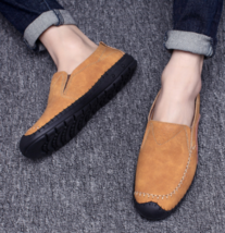 Men Casual 44 URBANFIND On Size Loafers Suede Moccasi Leather Breathable 38 Slip qHO1O5