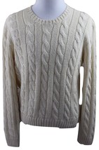 MINT Polo Ralph Lauren Cable-Knit 100% Silk Crewneck Sweater MENS LARGE ... - $49.99