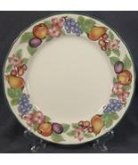 Epoch Market Day E801 Dinner Plates Baroque Shape Fruit Border Green Rim  - $24.95