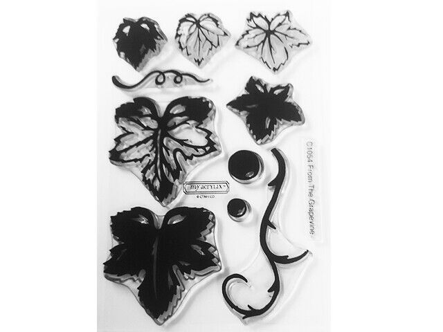 """Close to My Heart """"From the Grapevine"""" Clear Cling Acrylic Stamp Set #C1054"""