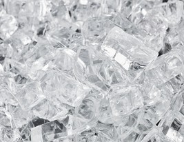"""10 Lbs of Fire Glass 1/4"""" Arctic Ice Fireglass for Fireplace or Fire Pit - $28.71"""