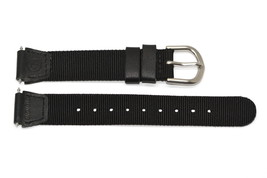 14MM BLACK NYLON LEATHER EXPEDITION FIELD WATCH BAND STRAP - $12.38