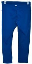 90 Degree by Reflex Royal Blue 3/4 Yoga Workout Pants Leggings Size S image 2