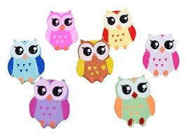 Cute Colorful Owl Shaped Thumbtack Creative Pushpins - $20.78