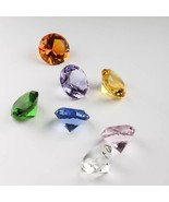 Rainbow Crystal Glass Diamond Paperweight Fengshui Raw Amber Wedding Hom... - $12.44+