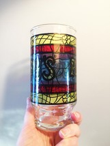 Vintage 70s Arby's Stained Glass Promotional Collectible Tumbler Glass