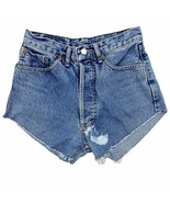 Vintage Levi's 501 Made in USA Cut Off Shorts Size 27 Waist High Rise Wa... - $39.99