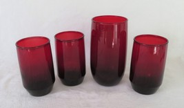 Anchor Hocking  Roly Poly Tumbler & Juice, Royal Ruby Red - $12.00