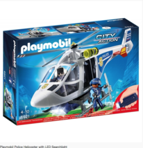 Playmobil Police Helicopter with LED Searchlight - # 6921 - $46.52