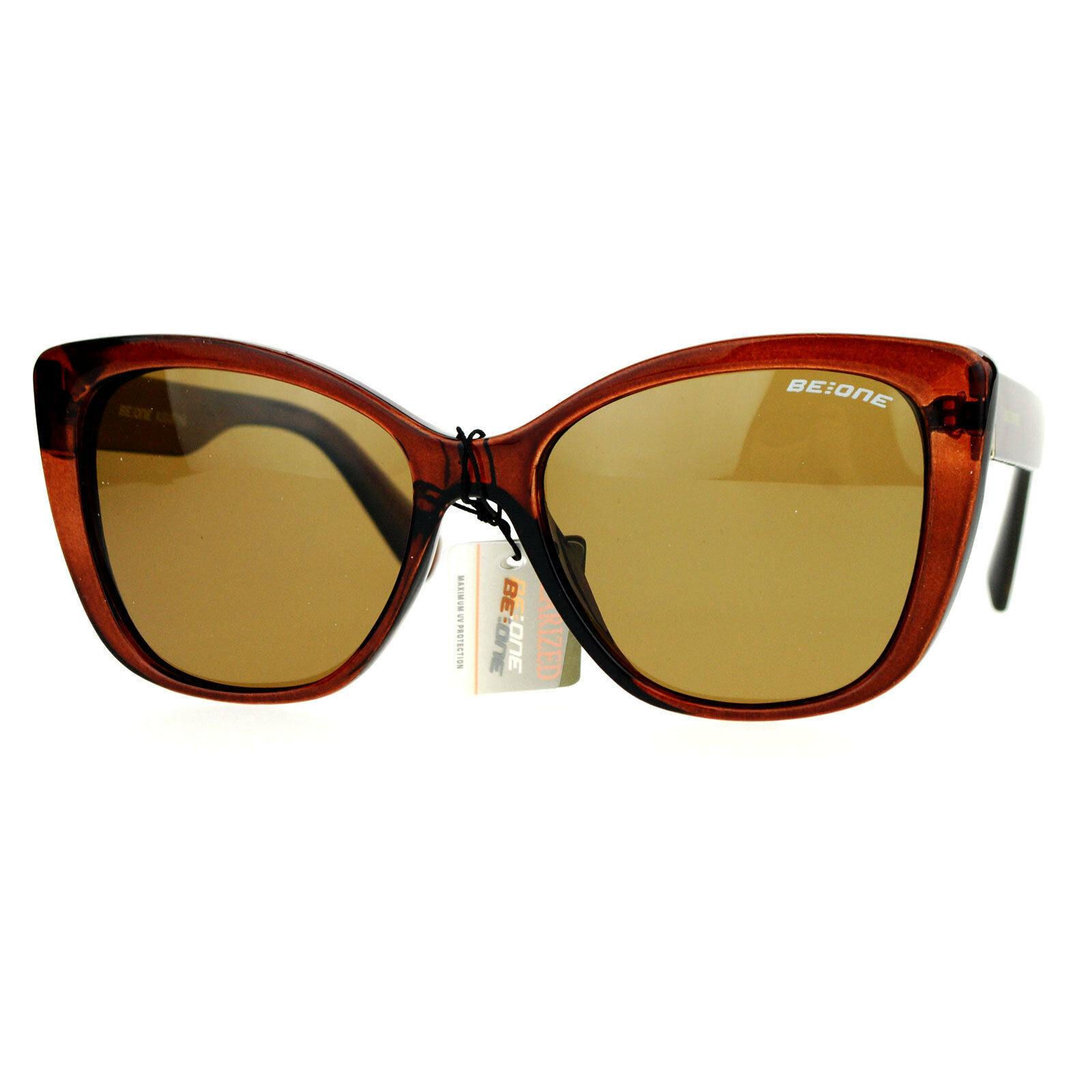 Be One Womens Polarized Lens Sunglasses Designer Square Frame
