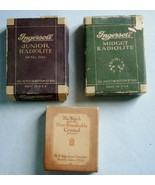 (2) Ingersoll and (1) Ingraham Pocket Watch boxes, from the early 1900's... - $23.75