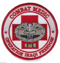 "COMBAT MEDIC OPERATION IRAQI FREEDOM OIF BADGE RIBBON EMBROIDERED 4"" PATCH - $23.74"