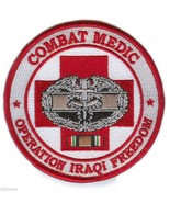 "COMBAT MEDIC OPERATION IRAQI FREEDOM OIF BADGE RIBBON EMBROIDERED 4"" PATCH - $17.14"