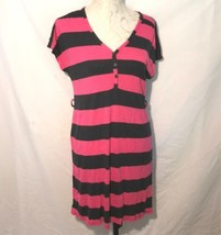 Old Navy sz M Stripe Jersey Knit Pink Navy Blue Dress Shift Womens Sheat... - $17.82