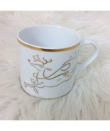 The Rudolph Co Christmas Red Nose Reindeer Coffee Mug Tea Cup 12 oz Gold... - $9.49